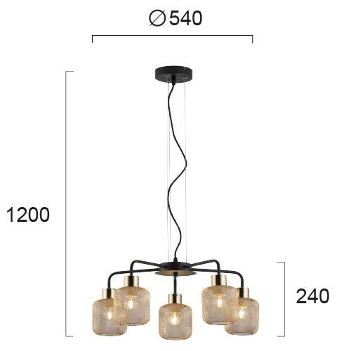 Moderni Luster - LOREN modernog dizajna,kvalitetan - internet prodaja - Commodo Home & Living