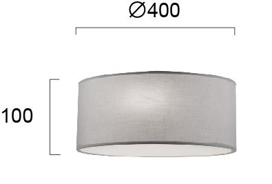 Moderna Plafonjera - BRISTOL-modernog dizajna,kvalitetna, sive boje - internet prodaja - Commodo Home & Living