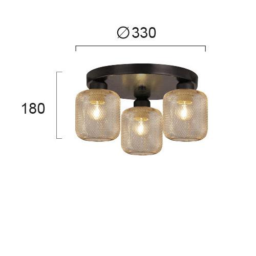 Moderna Plafonska lampa - LOREN - modernog dizajna,kvalitetna - internet prodaja - Commodo Home & Living