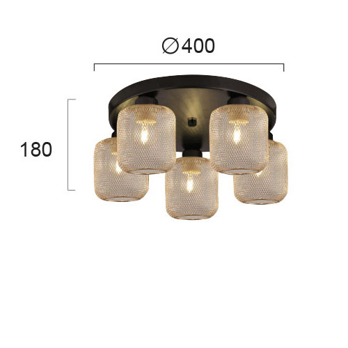 Moderni Plafonski luster - LOREN modernog dizajna,kvalitetan - internet prodaja - Commodo Home & Living