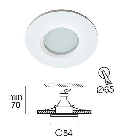 Moderna Ugradna lampa modernog dizajna,kvalitetna - internet prodaja - Commodo Home & Living