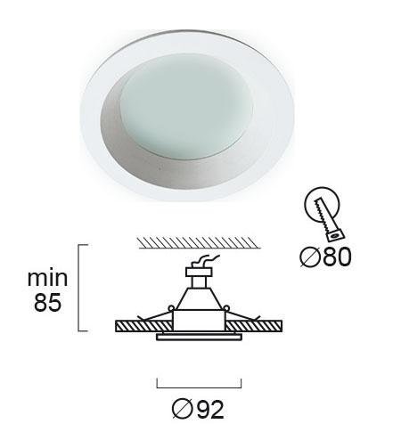 Moderna Ugradna Lampa Yan modernog dizajna,kvalitetna - internet prodaja - Commodo Home & Living