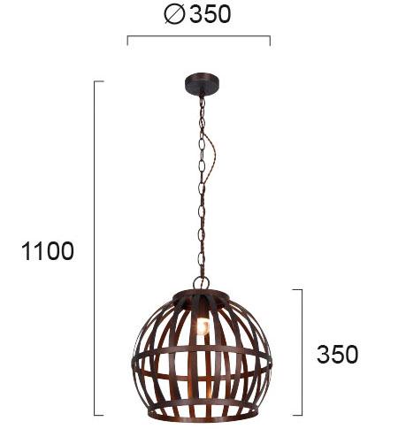 Moderna Visilica - RALPH - modernog dizajna,kvalitetna, braon boje - internet prodaja - Commodo Home & Living