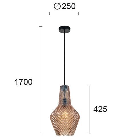 Moderna Visilica – SOLETO modernog dizajna,kvalitetna, bronzane boje - internet prodaja - Commodo Home & Living