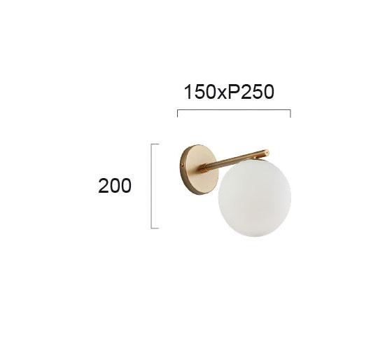 Moderna Zidna lampa – GLOBE - modernog dizajna,kvalitetna - online shop - Commodo Home & Living