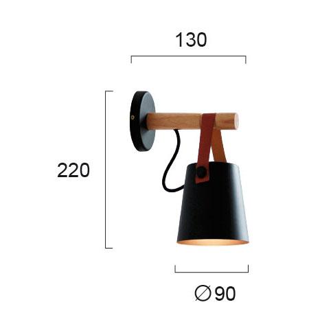 Moderna Zidna lampa - VETRO modernog dizajna,kvalitetna , crne boje - internet prodaja - Commodo Home & Living