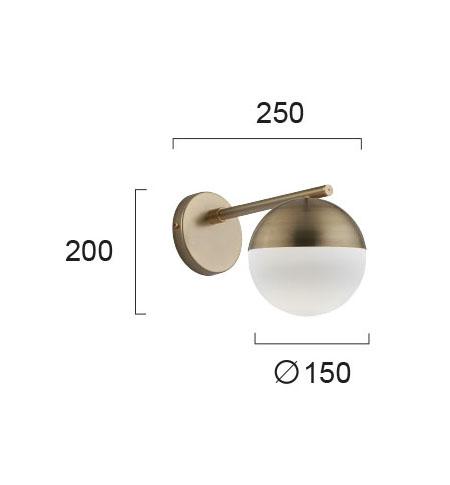 Moderna Zidna lampa - VIOLA modernog dizajna,kvalitetna - online shop - Commodo Home & Living