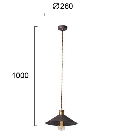 Moderna Visilica Rust modernog dizajna,kvalitetna ,crne boje - internet prodaja - Commodo Home & Living