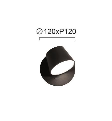 Moderna Zidna lampa - KIM modernog dizajna,kvalitetna, crne boje - internet prodaja - Commodo Home & Living