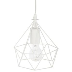 """Moderni Luster """"Ida"""" D19 metalni unikatnog dizajna , bijele boje - Internet prodaja - Commodo Home & Living"""