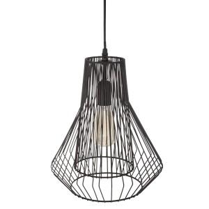 "Moderni Luster ""Zania"" D28 metalni unikatnog dizajna , crne boje - Internet prodaja - Commodo Home & Living"