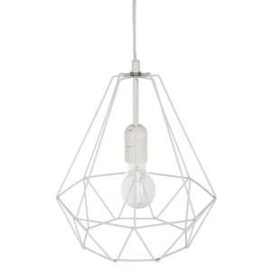 """Moderni Luster """"Drim"""" D25 metalni unikatnog dizajna , bijele boje - Internet prodaja - Commodo Home & Living"""
