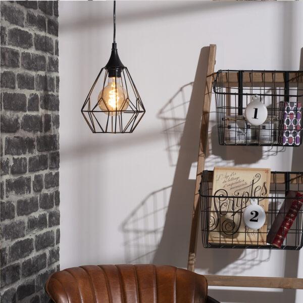 "Moderni Luster ""Drim"" D25 metalni unikatnog dizajna , crne boje - Internet prodaja - Commodo Home & Living"
