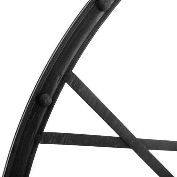 Moderni Zidni Sat metalni Vintage Noire D96 Aksesoari unikatnog dizajna , crne boje - internet prodaja - Commodo Home & Living