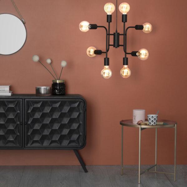 Moderni Luster Cantor D59 metalni unikatnog dizajna , crne boje - Internet prodaja - Commodo Home & Living