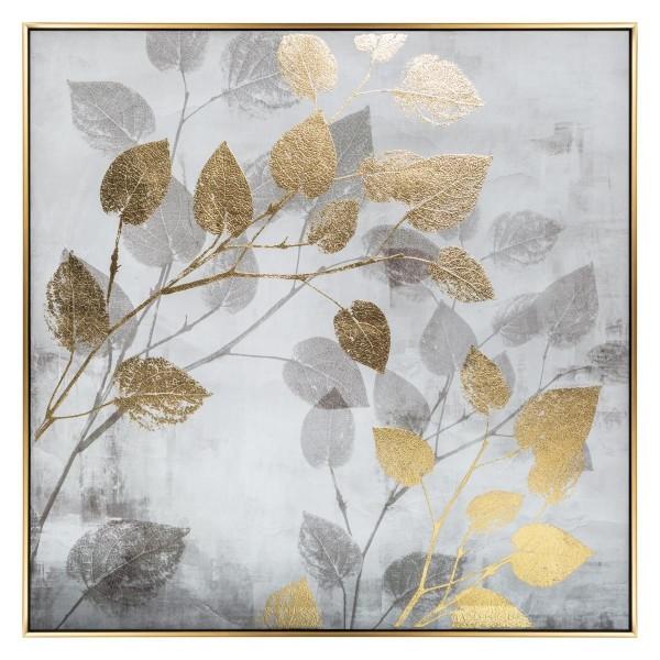 Moderno Štampano platno Foil Leaf 75x75 Aksesoari neobičnog dizajna, kvalitetno - internet prodaja - Commodo Home & Living