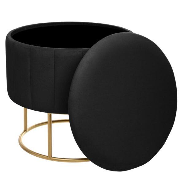 "Moderni Pouf Tabure ""Bundeva"" modernog dizajna, udoban , crne boje - online shop - Commodo Home & Living"