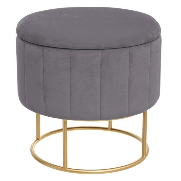 "Moderni Pouf Tabure ""Bundeva"" modernog dizajna, udoban , sive boje - online shop - Commodo Home & Living"