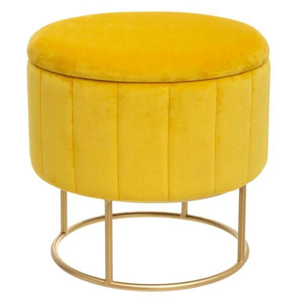 "Moderni Pouf Tabure ""Bundeva"" modernog dizajna, udoban , žute boje - online shop - Commodo Home & Living"