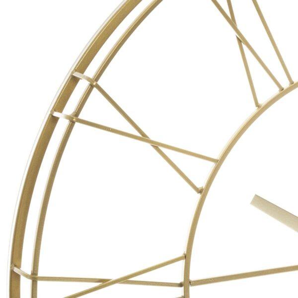 Moderni Zidni Sat metalni Silence Noire D70 Aksesoari unikatnog dizajna , zlatne boje - internet prodaja - Commodo Home & Living