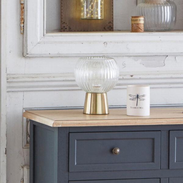 "Moderna Stona lampa ""Laye"" H19 unikatnog dizajna , zlatne boje - Internet prodaja - Commodo Home & Living"