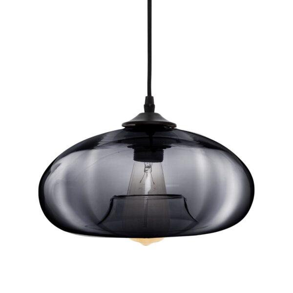 "Moderni Luster ""Kaltag"" D28 Gris fum unikatnog dizajna , crne boje - Internet prodaja - Commodo Home & Living"