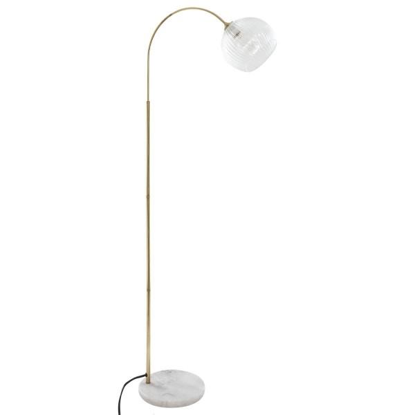 "Moderni Podna lampa ""Laie"" od stakla i mermera H150 unikatnog dizajna , zlatne boje - Internet prodaja - Commodo Home & Living"