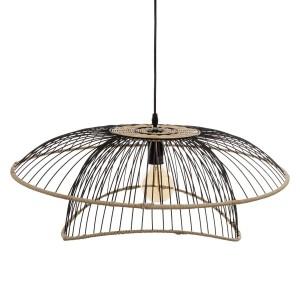 "Moderni Luster ""Benett"" D60 metalni unikatnog dizajna , crne boje - Internet prodaja - Commodo Home & Living"