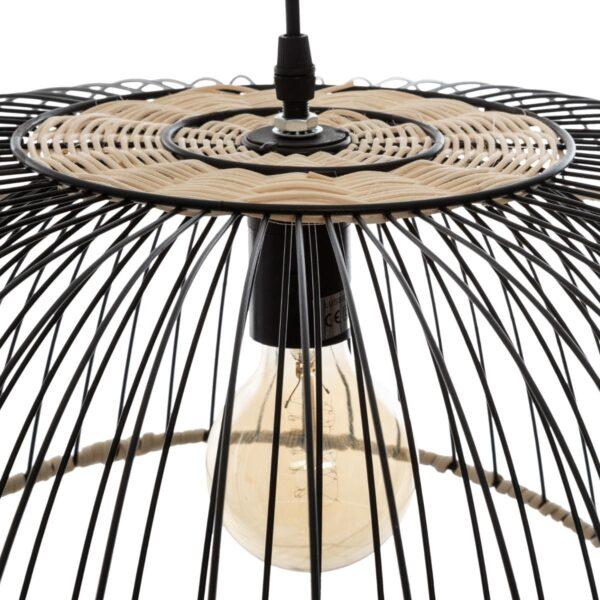 "Moderni Luster ""Sisal"" H25 metalni unikatnog dizajna , crne boje - Internet prodaja - Commodo Home & Living"