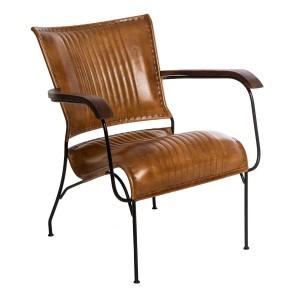 Moderna Kožna Fotelja Hoper modernog dizajna , udobran , braon boje - internet prodaja - Commodo Home & Living