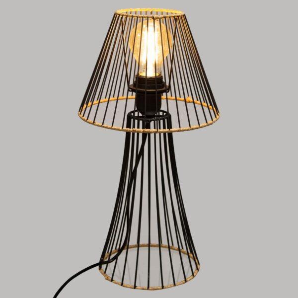 "Moderna Stona lampa ""Sisal"" H38,5 unikatnog dizajna , crne boje - Internet prodaja - Commodo Home & Living"