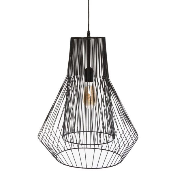 "Moderni Luster ""Zania"" H52 metalni unikatnog dizajna , crne boje - Internet prodaja - Commodo Home & Living"