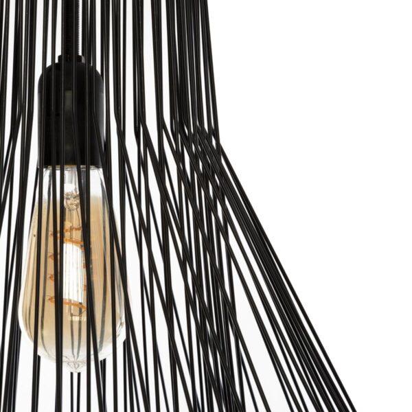 "Moderni Luster ""Zania"" H52 metalni , unikatnog dizajna , crne boje - Internet prodaja - Commodo Home & Living"
