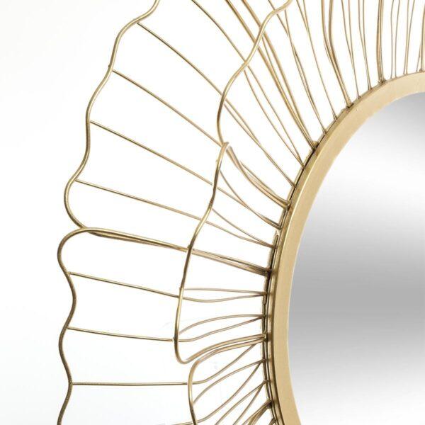 Moderno Metalno ogledalo Fleur Or D67 Aksesoari neobičnog dizajna, kvalitetno - internet prodaja - Commodo Home & Living