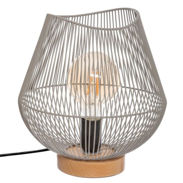 "Moderna Stona Lampa ""Jena"" H25 metalna unikatnog dizajna , sive boje - Internet prodaja - Commodo Home & Living"