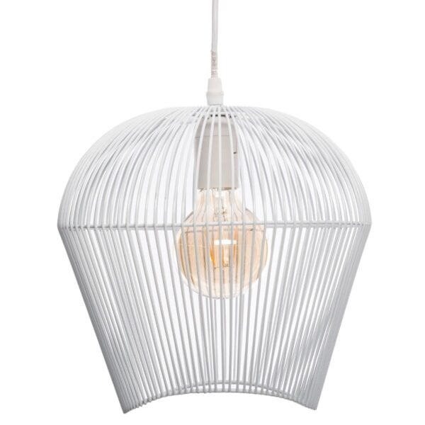 """Moderni Luster """"Jena"""" H25 metalni unikatnog dizajna , bijele boje - Internet prodaja - Commodo Home & Living"""