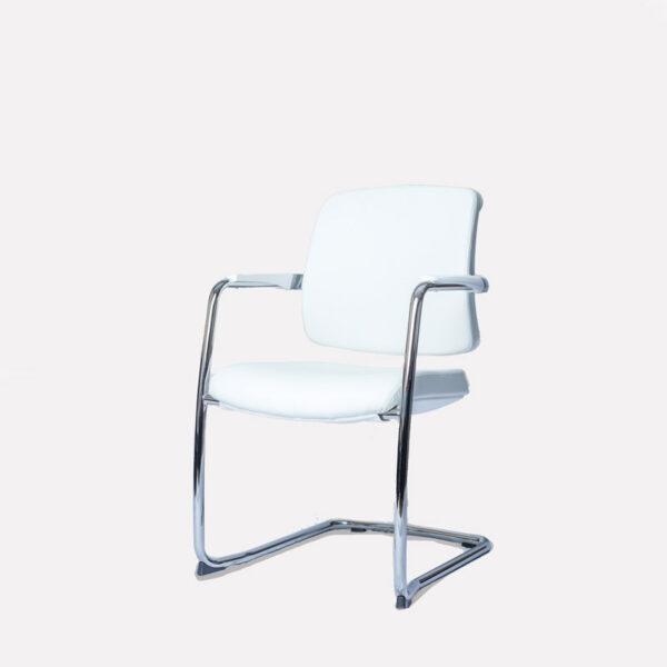 Moderna Konferencijska stolica Apsolute jednostavnog dizajna,udobna , bijele boje - online shop - Commodo Home & Living
