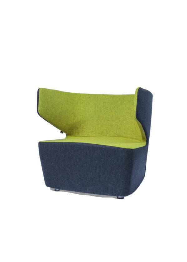 Moderna Fotelja Mr Jones jednostavnog dizajna,udoban , tamno sive i zelene boje - online shop - Commodo Home & Living