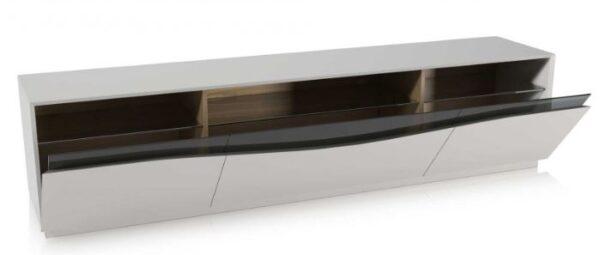 Moderna TV Komoda Camilo modernog dizajna, praktična, bijele boje - internet prodaja - Commodo Home & Living