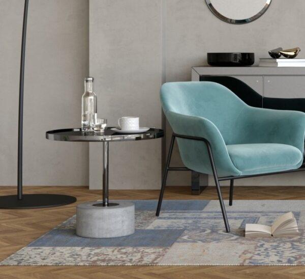 Moderni Klub Sto Centola neobičnog dizajna, kvalitetan , sive boje - internet prodaja - Commodo Home & Living