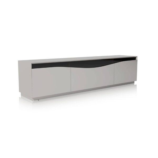 Moderna Camilo-tv-komoda modernog dizajna, praktična, svijetlo sive boje - internet prodaja - Commodo Home & Living