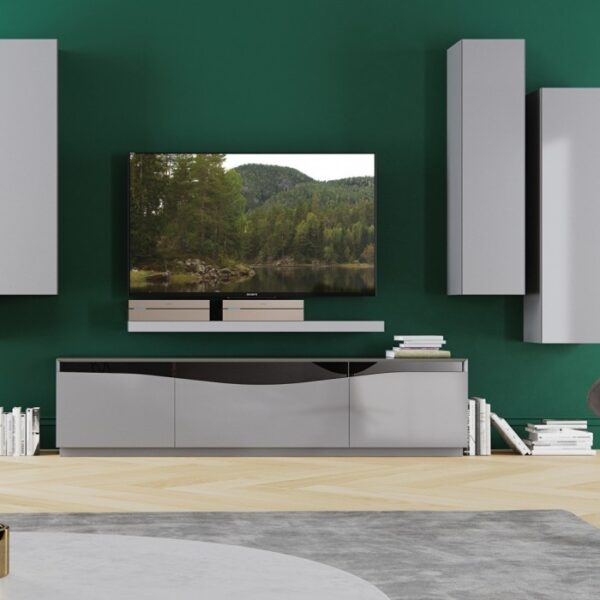Moderna TV Komoda Camilo modernog dizajna, praktična, svijetlo sive boje - internet prodaja - Commodo Home & Living