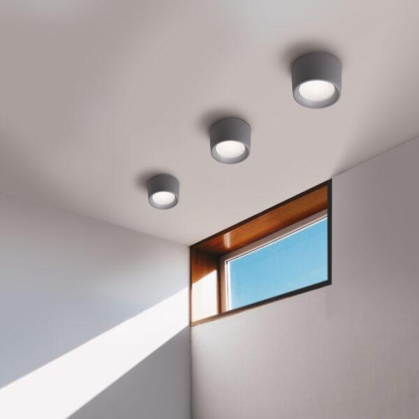 Moderna Nadgradna svjetiljka - LIVIA 160 klasičnog dizajna, sive boje - internet prodaja - Commodo Home & Living