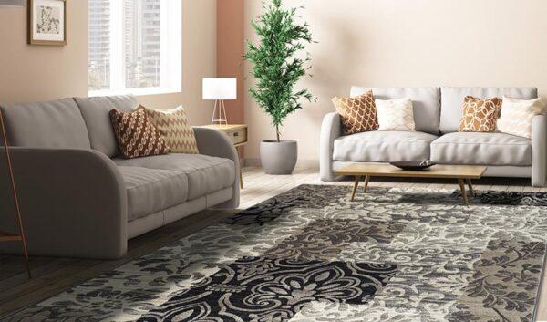 Moderni Tepih Argentum modernog dizajna i čudesnih boja,arabeska - Internet prodaja - Commodo Home & Living