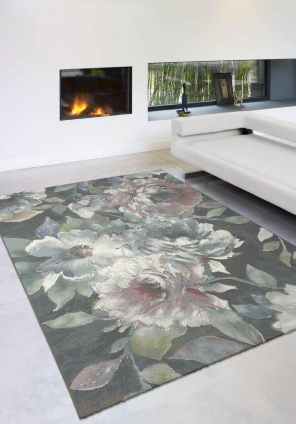 Moderni Tepih - Argentum modernog dizajna i čudesnih boja sa cvijetnim motivima - online shop - Commodo Home & Living