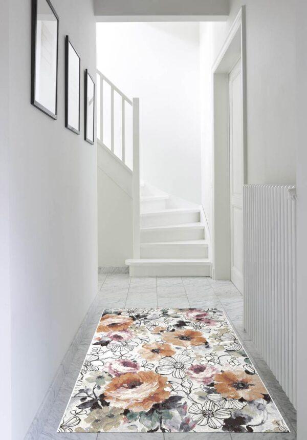 Moderni Tepih - Argentum modernog dizajna i čudesnih boja sa cvijetnim motivim - online shop - Commodo Home & Living
