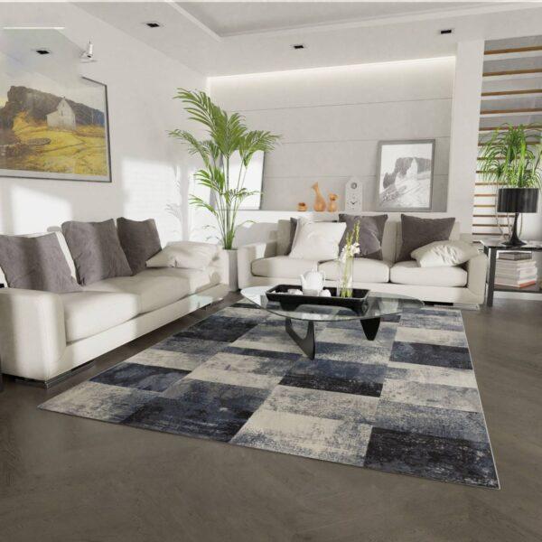 Moderni Tepih Argentum modernog dizajna i čudesnih boja sageometrijskim motivima - online shop - Commodo Home & Living