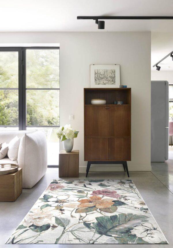 Moderni Tepih - Argentum modernog dizajna i čudesnih boja sa biljnim motivima - online shop - Commodo Home & Living