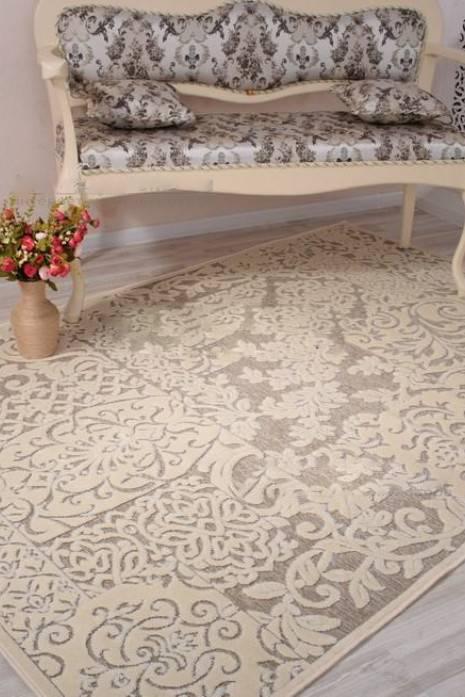 Moderni Tepih Genova elegantan,jedinstven sa reljefnim dezenom,arabeska - internet prodaja- Commodo Home & Living