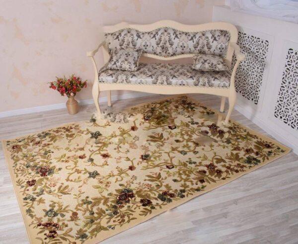 Moderni Teph Genova elegantan,jedinstven sa reljefnim dezenom i cvijetnm motivima - internet prodaja- Commodo Home & Living
